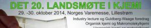 Landsmøte i kjemi 29. – 30.10 2014