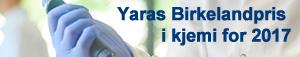 Yaras Birkelandpris i kjemi for 2017
